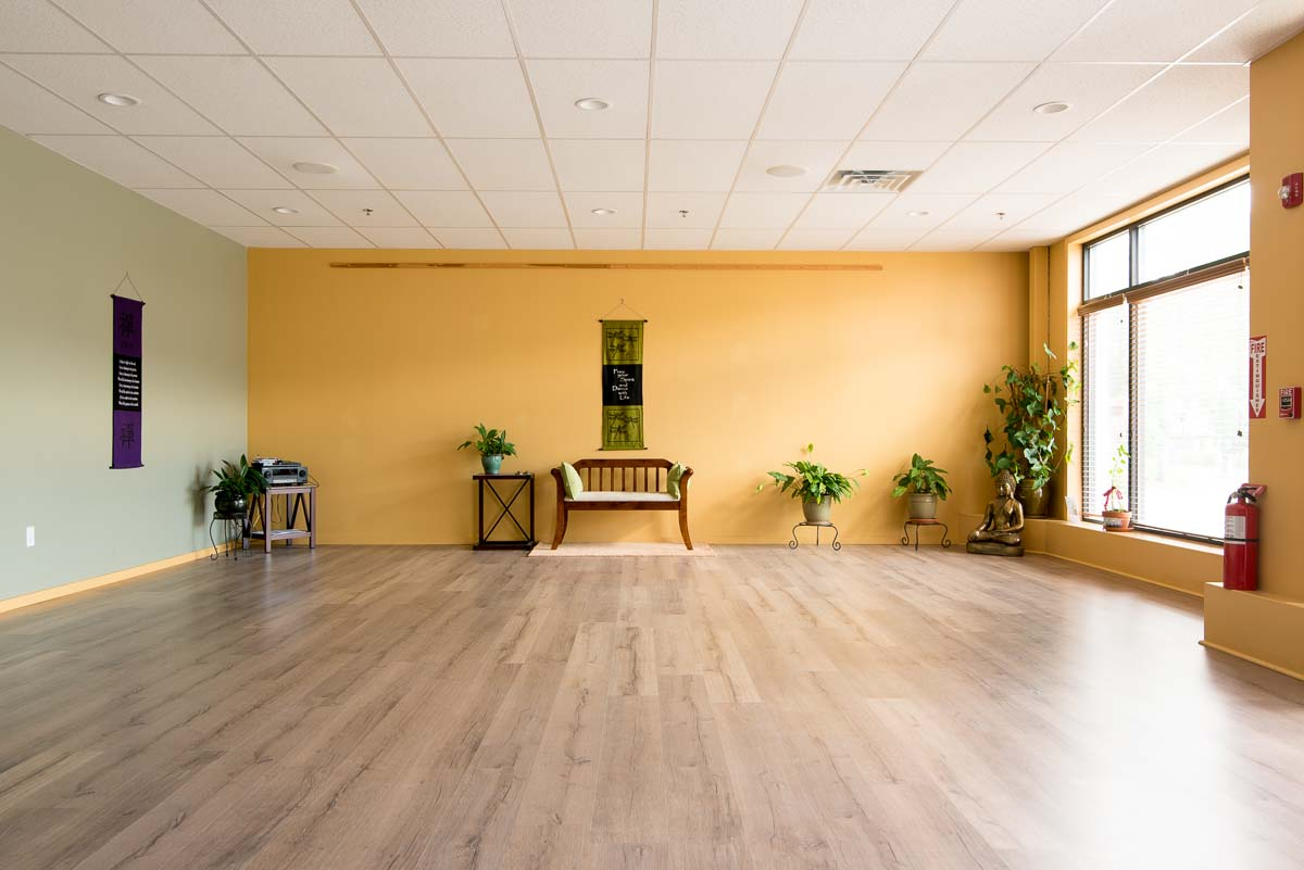 wide-angle shot of tai chi room